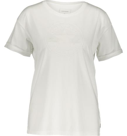 Converse W ELEVATED CHUCK PATCH EASY CREW TEE WHITE
