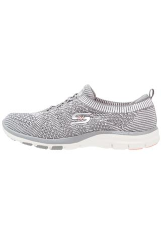 Skechers GALAXIES Loaferit/pistokkaat gray/white