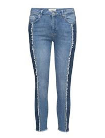 Mango Relaxed Crop Contrast Jeans 15457742
