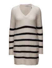 Scotch & Soda Home Alone Oversized V-Neck Hairy Striped Knit 14119761