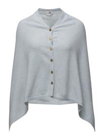 Davida Cashmere Poncho With Gold Buttons 15317369