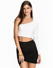NLY One Bubble One Sleeve Top Pitkähihaiset paidat Offwhite