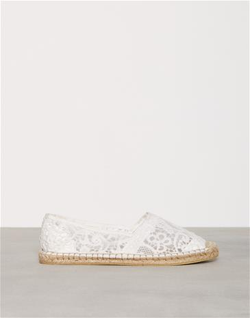 NLY Shoes Lace Espadrille Espadrilles Offwhite