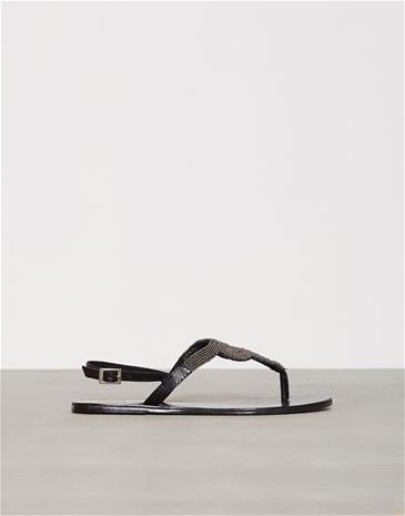 Pieces Pscarmen Leather Sandal New Blk Sandaalit Musta
