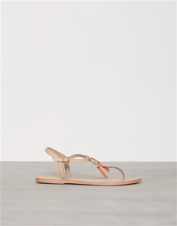 Pieces Pslowe Leather Sandal Nude Sandaalit Vaaleanruskea