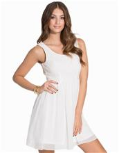 Dry Lake Petite Open Back Dress Skater Dresses White