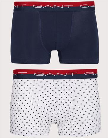 Gant 2-Pack Trunk Stars CS Bokserit White