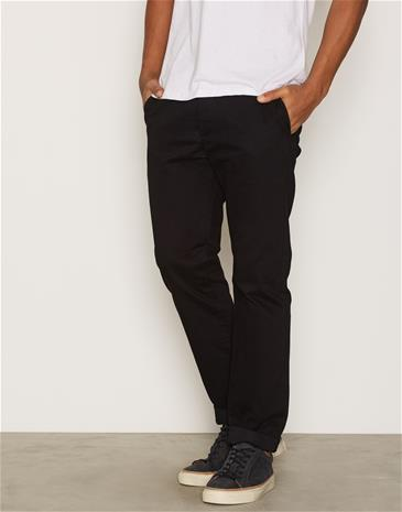Topman Black Standard Fit Chinos Housut Black