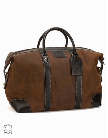 Baron Weekend Bag Suede Laukut Brown