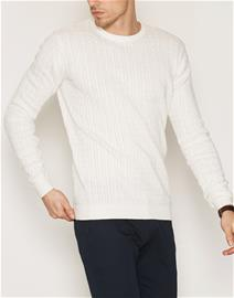 Tailored By Solid Knit Ascot Puserot White