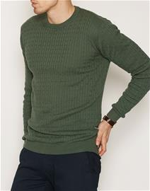 Tailored By Solid Knit Ascot Puserot Green