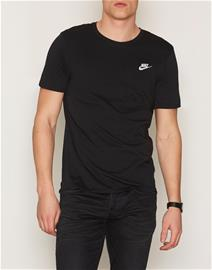Nike Sportswear Tee Club Embroided T-Shirt T-paidat ja topit Black/White