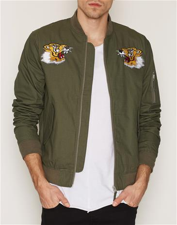 Edwin Flight Souvenir Jacket Takit Military Green