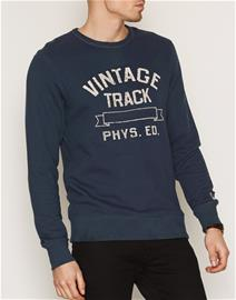 Jack & Jones Jjvt&F Jack Sweat Crew Neck Puserot Tummansininen