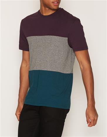 Topman Purple Teal and Grey Panelled T-Shirt T-paidat ja topit Purple