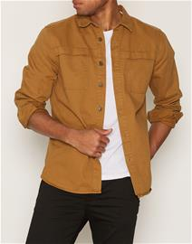 Topman Washed Brown Overlay Pocket Overshirt Kauluspaidat Stone