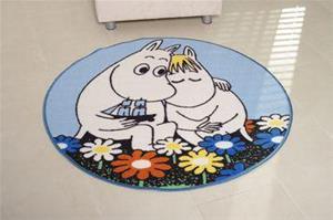 Muumit, pyöreä matto 100 cm