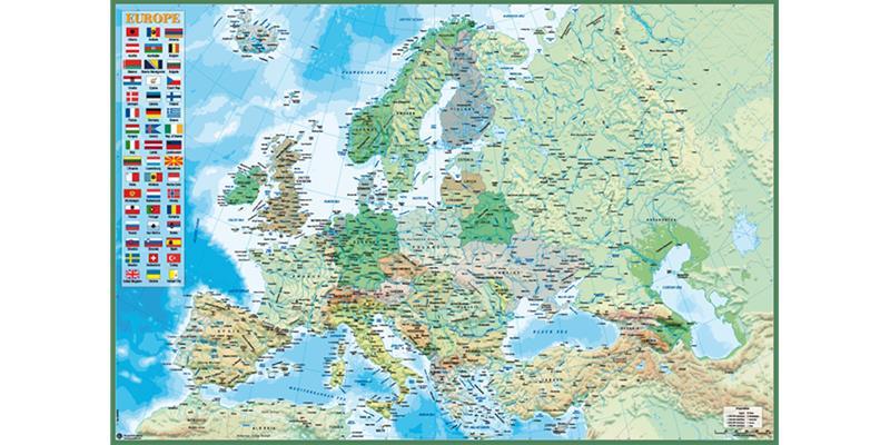 Euroopan Kartta Juliste Hintaseuranta Fi