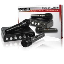 König HAV-KM10P, karaokemikseri + 2 mikrofonia