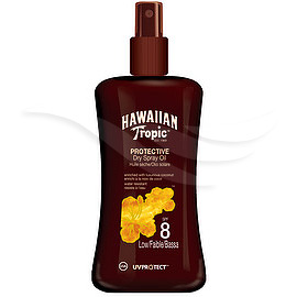 Hawaiian Tropic Protective Dry Spray Oil Spf 8, 200 ml