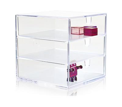 Nomess Copenhagen Clear 3 Drawer Box, säilytyslokerikko 17 cm