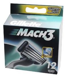 Gillette Mach3, vaihtoterät 12 kpl
