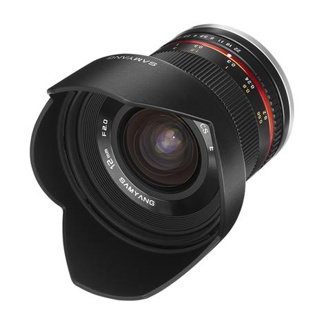 Samyang 12mm 1:2.0 NCS CS, objektiivi