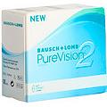 Bausch & Lomb PureVision2 HD, kuukausikäyttöiset piilolinssit 6 kpl