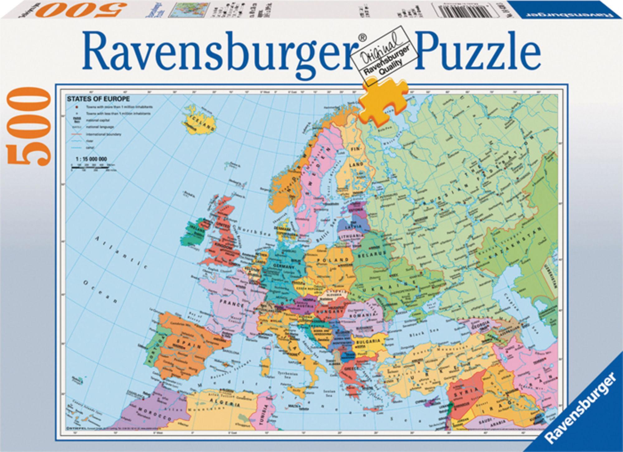 Karnan Palapeli Euroopan Kartta 500 Palaa