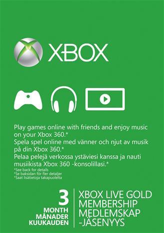 Xbox Live Gold 3 kk