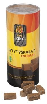 BBQ King, sytytyspalat 120 kpl