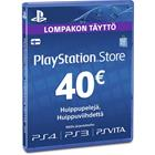 Playstation Network Card, PSN-kortti 40 euroa
