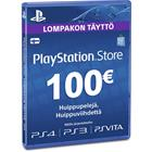 Playstation Network Card, PSN-kortti 100 euroa