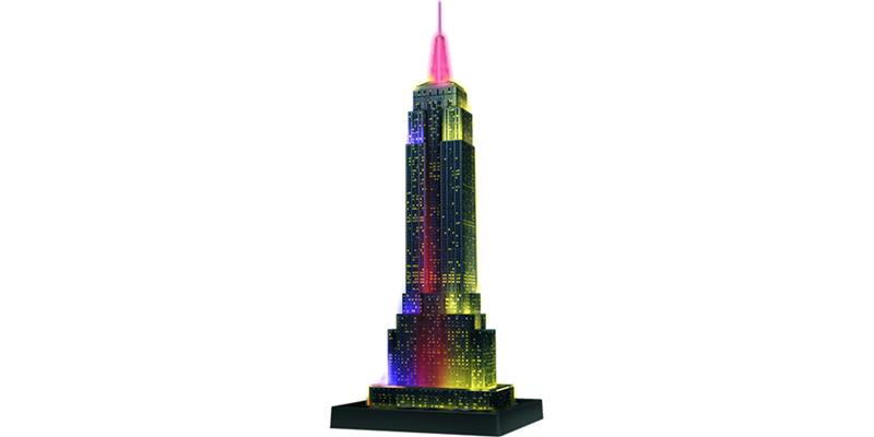 Ravensburger Empire State Building Night Edition, 3D-palapeli, 216 p.