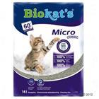 Biokat's Micro -kissanhiekka - säästöpakkaus: 2 x 14 l