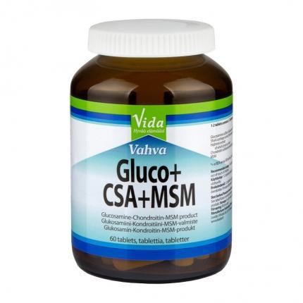 Vida Vahva Glukosamiini + CSA + MSM, 60 tabl.