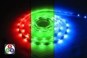 Led-valonauha 5 m, rgb, 30 led/m