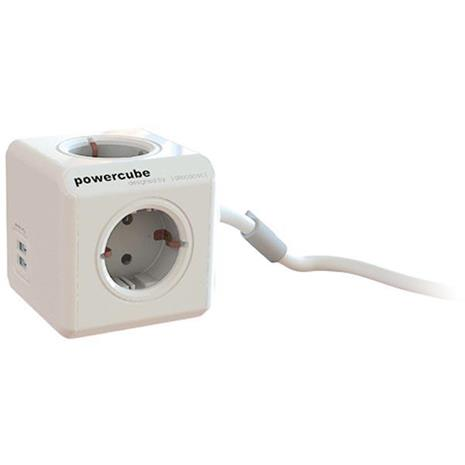 PowerCube Extended USB, jatkojohto 1,5 m, 4 pistoketta ja 2x USB