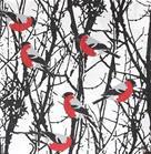 Almedahls Domherrar-kangas punainen