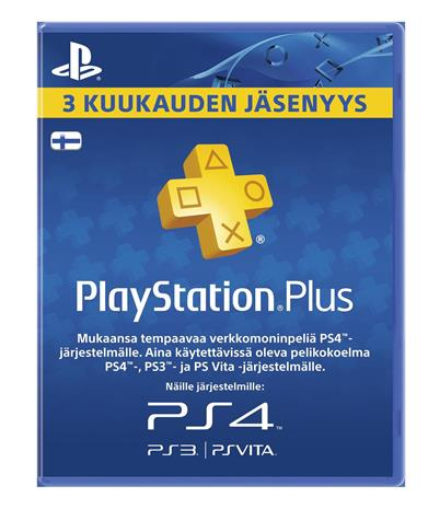 Playstation Network Plus Card, 3 kk