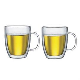 Bodum Bistro kaksiseinäinen korvallinen lasi 2 kpl 0,45 l