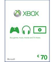 Xbox Live lahjakortti 70 euroa