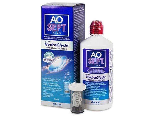 Alcon Aosept Plus HydraGlyde, piilolinssineste 360 ml