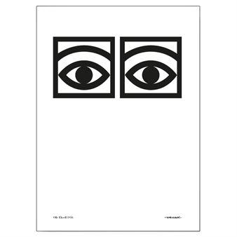 Olle Eksell Ögon Cacao -juliste, yksi silmäpari 70x100 cm