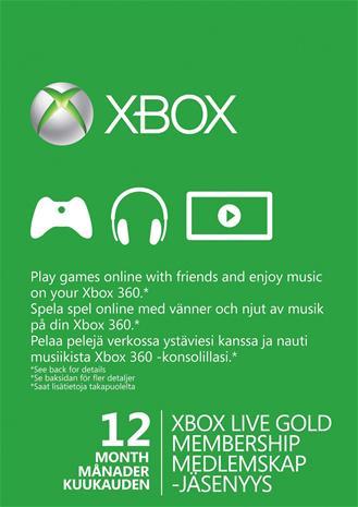 Xbox Live Gold 12 kk