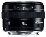 Canon EF 50mm f/1.4 USM, objektiivi