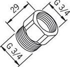 Yksisuuntaventtiili Oras 105302 G3/4xG3/4 kromi