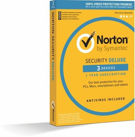 Norton Security Deluxe (1 vuosi 3 laitetta), tietoturvaohjelmisto