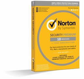 Norton Security Premium (1 vuosi 10 laitetta), tietoturvaohjelmisto