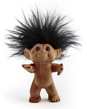 Lykketrold Anniversary Troll 2015 Limited Edition, puinen peikko 14 cm